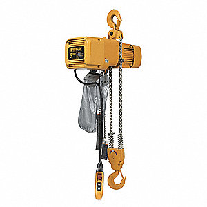 H4 Electric Chain Hoist, 10,000 lb. Load Capacity, 460V, 10 ft. Hoist Lift, 11/2 fpm