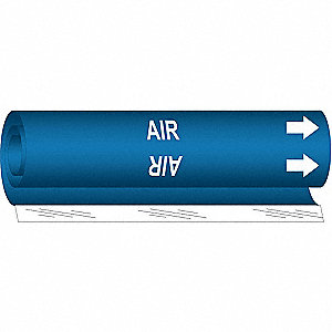 Pipe Marker, Air, Blue, 1/2 to 1-3/8 In