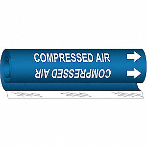 Pipe Mrkr, Compressed Air, 1-1/2to2-3/8 In