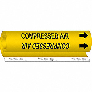 Pipe Mrkr,Compressed Air,2-1/2to7-7/8 In