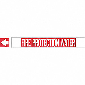 Pipe Mrkr,Fire Protection Water,White