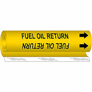 Pipe Mrkr,Fuel Oil Return,2-1/2to7-7/8In
