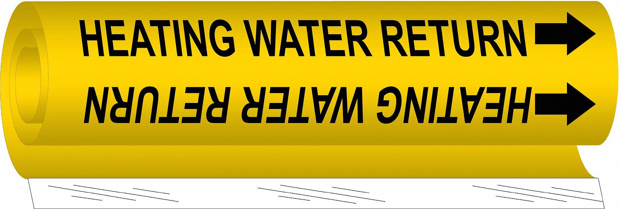 LegendHeating Water Return Wrap Around Pipe Marker Brady 5702-Ii High Performance