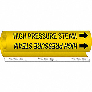Pipe Mrkr,High Pressure Steam,1/2to1-3/8