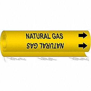 Pipe Markr,Natural Gas,Y,2-1/2to7-7/8 In