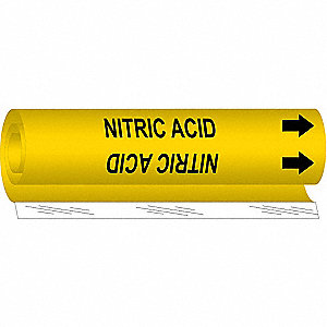 Pipe Markr, Nitric Acid, Y, 1-1/2to2-3/8 In