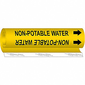 Pipe Mrkr,Non-Potable Water,1/2to1-3/8In