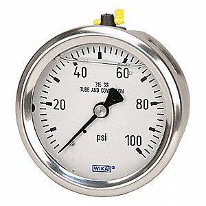 GAUGE PRESSURE 0-30 PSI 2-1/2IN