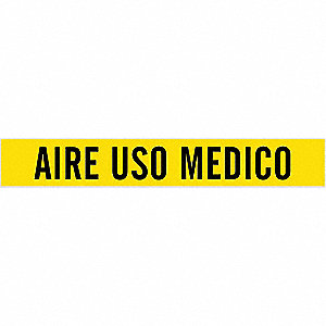 Pipe Mrkr,Aire USO Medico,2-1/2to7-7/8In