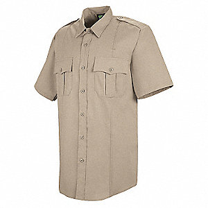 Sentry Shirt, SS, Tan, Neck 19-1/2 In.