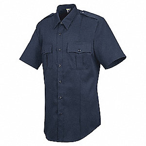 Sentry Shirt, SS, Navy, Neck 15 In.