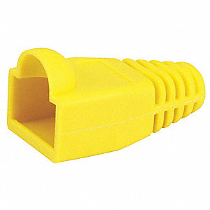 Relief Boot, RJ45,Yellow,PK50