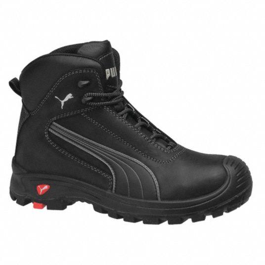 6 in Work Boot, 12, EE, Men's, Black, Composite Toe Type, 1 PR