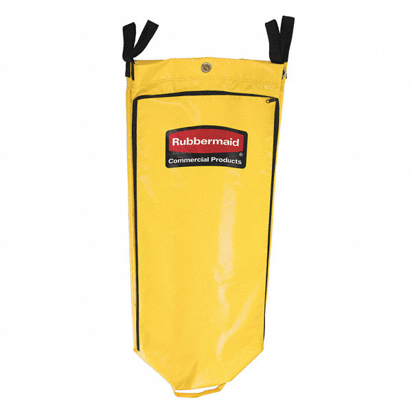rubbermaid yellow vinyl replacement bag 1 ea 14j831