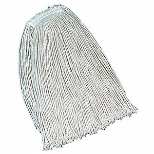 Side Gate Cotton String Wet Mop Head, White