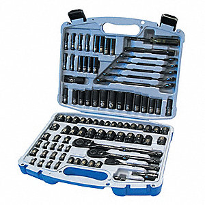 TOOL KIT 91 PCE BLACK CHROME