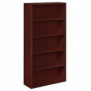 "36"" x 13-1/8"" x 71"" 10500 Series Bookcase with 5 Shelves, Mahogany"