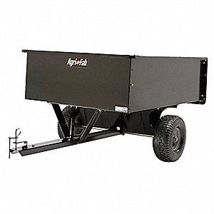 Dump Cart, Steel, 17 cu. ft. Volume Capacity, 1200 lb. Max. Capacity, Pneumatic Wheel Type