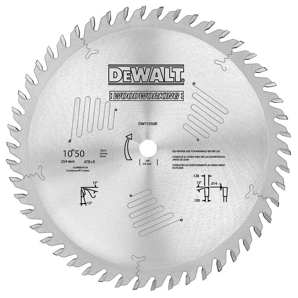 Dewalt 10 carbide combination circular saw blade number of teeth zoom outreset put photo at full zoom then double click greentooth Image collections