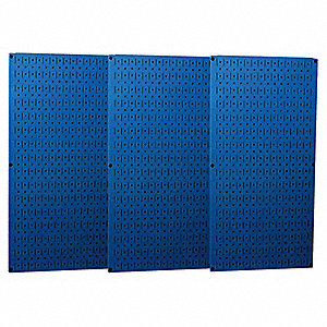 "32"" x 48"" 20 ga. Steel Pegboard with 600 lb. Load Rating, Blue"