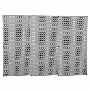 "32"" x 48"" 20 ga. Steel Pegboard with 600 lb. Load Rating, Gray"