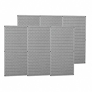 "32"" x 96"" 20 ga. Steel Pegboard with 1200 lb. Load Rating, Gray"