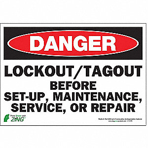 SIGN DANGER LOCK OUT 7X10 SA