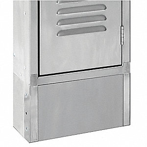 Locker Front Base, W 18 in, H 6 In, SS