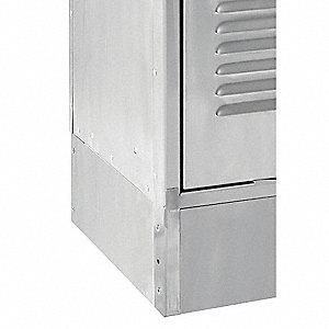 Locker Side Base,D 18 In,H 6 In,SS