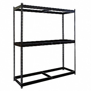 "Starter Boltless Shelving with None Decking, 3 Shelves, 48""W x 48""D x 84""H"