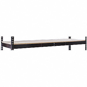 "72"" x 24"" x 84"" Steel Extra Shelf Level, Black"