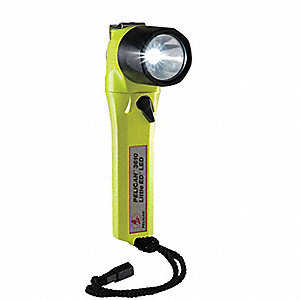 Industrial LED Industrial Handheld Flashlight, ABS Plastic, Maximum Lumens Output: 126, Yellow