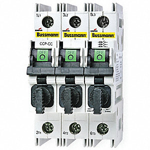 Circuit Protector, 600VAC Voltage, 30 Amps, Number of Poles: 3