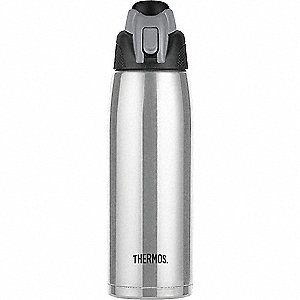 Hydration Bottle, 24 oz. Stainless Stainless Steel