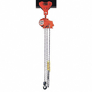 HOIST,AIR,1/2T,45FPM,RLLRCHN,10FT