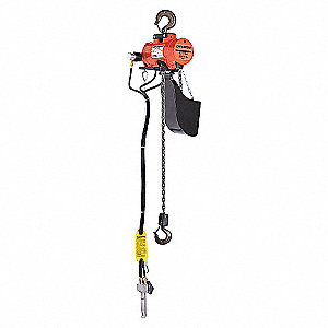 HOIST,AIR,3T,10FPM,10FT,HOOK SUSP