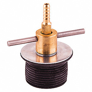 "2"" Bypass TurnTite Mech Expansion Plug, Brass, Zinc Plated Steel, Neoprene Rubber"