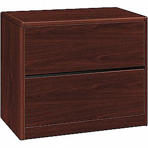 "36"" x 20"" x 29-1/2"" 2-Drawer 10700 Series File Cabinet, Mahogany"