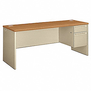 Office Desk,72 x 29-1/2 x 24 In,Putty