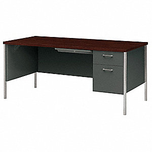 Office Desk,66 x 29-1/2 x 30 In,Charcoal