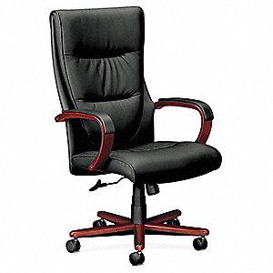 Executive / Highback Chair,250 lb.,Black