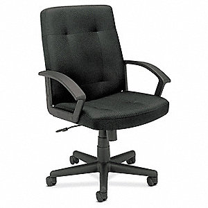 Managerial / Midback Chair,250 lb.,Black
