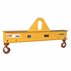 LIFTING BEAM,5TON,10FT SPREAD,ADJ
