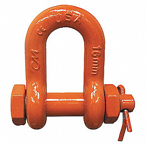 SHACKLE,1/2IN,3TN,CHAIN,B+N,PNTD