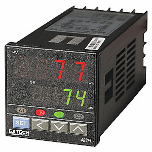 1/16 DIN PID CONTROLLER W/RELAY OUT