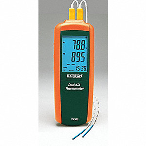 DUAL INPUT TYPE J/K THERMOMETER