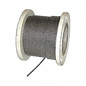 WIRE CABLE,COATED SSAC,PER FOOT