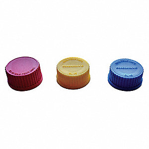 Cap,Screw On,PP,Wide,Red,PK10