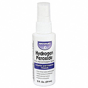 Hydrogen Peroxide, Liquid Solution, Spray Bottle, 2.000 oz.