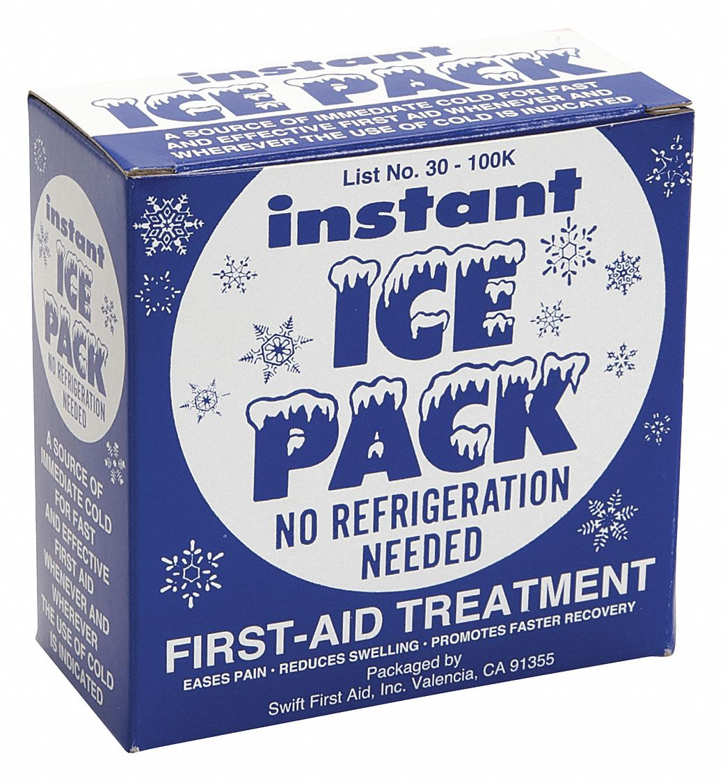 9 in x 5 in White Instant Cold Pack, 1EA